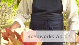 Roadworks Apron. Click Image To Open Page.