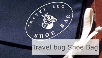 Travel Bug Shoe Bag. Click Image To Open Page.