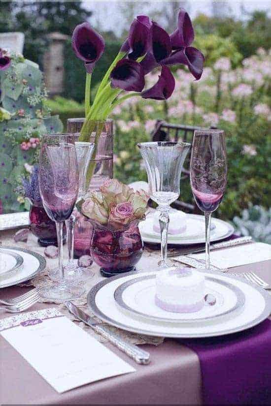 Photo Courtesy of Pinterest. Elegant Table Settings.