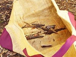 Log Lugger. Woochips In Bag. 300w 225H