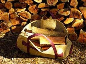 Log Lugger. Wood In Bag. Bag Open. 300w x 225h. 2017 July 26