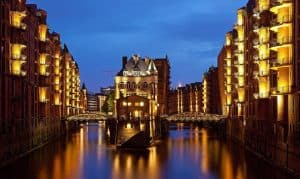 The Travel Bug Shoe Bag Goes Walkabout. Speicherstadt Warehouses Hamburg Germany