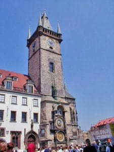 Travel Bug Shoe Bag Goes Walkabout Prague Astronomical Clock The Clock Tower