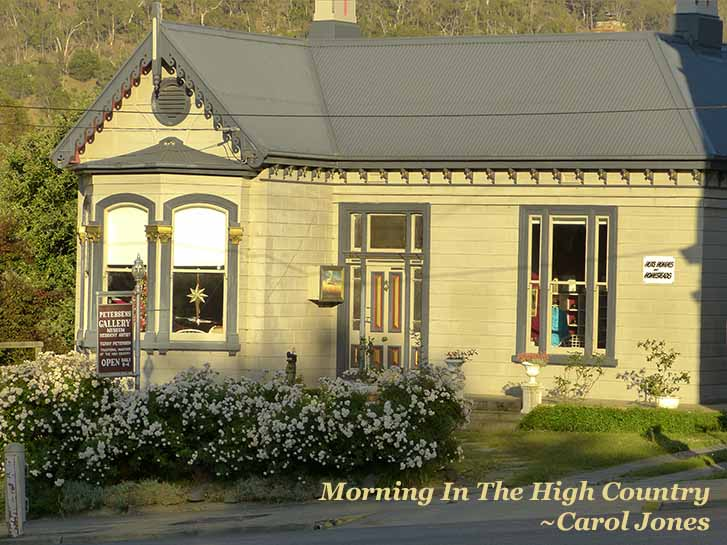 Morning In The High Country Of The Victorian Alps. Omeo Victoria
